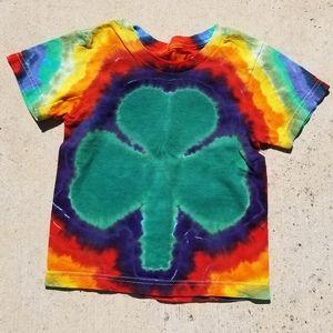 Shamrock tie dye t-shirt
